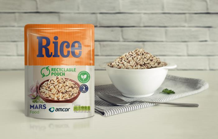 Mars Food & Amcor announce industry-first move to launch recyclable microwavable rice pouch