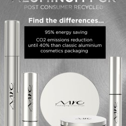 Aluminum PCR cosmetic pack by MYC Packaging Innovation