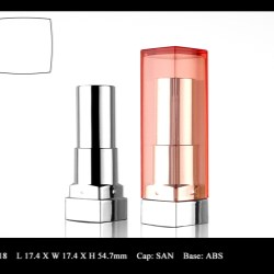The Lipstick Packaging Features a Steady Base and a Top-down Closure
