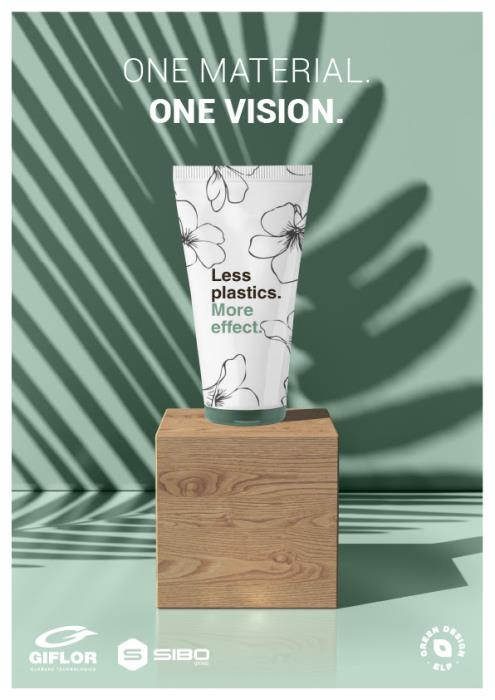 One material, one vision: Giflor's innovative low profile closure system for laminate tubes