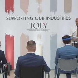 Minister for the Economy, Investment and Small Businesses Silvio Schembri visits Toly's manufacturing plant in Malta