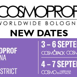 Cosmoprof Worldwide Bologna rescheduled for 3 to 7 September 2020