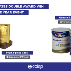 Colep celebrates double award win at Cans of the Year event