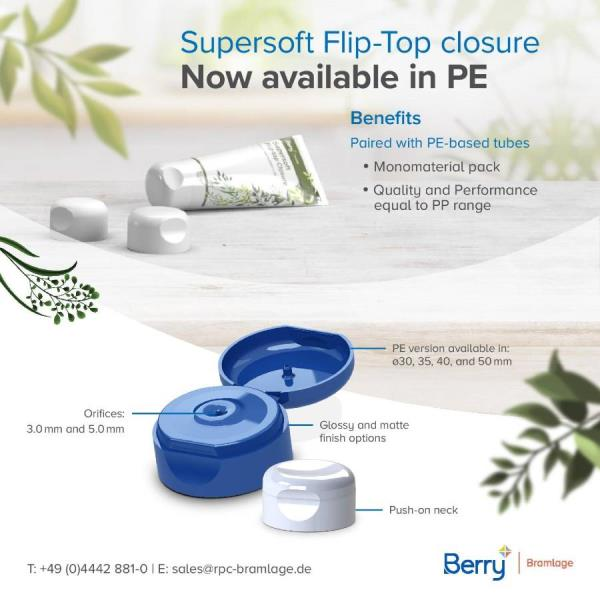 Berry Bramlage offers Supertop Closure in PE to Make Mono-material Packaging Easy